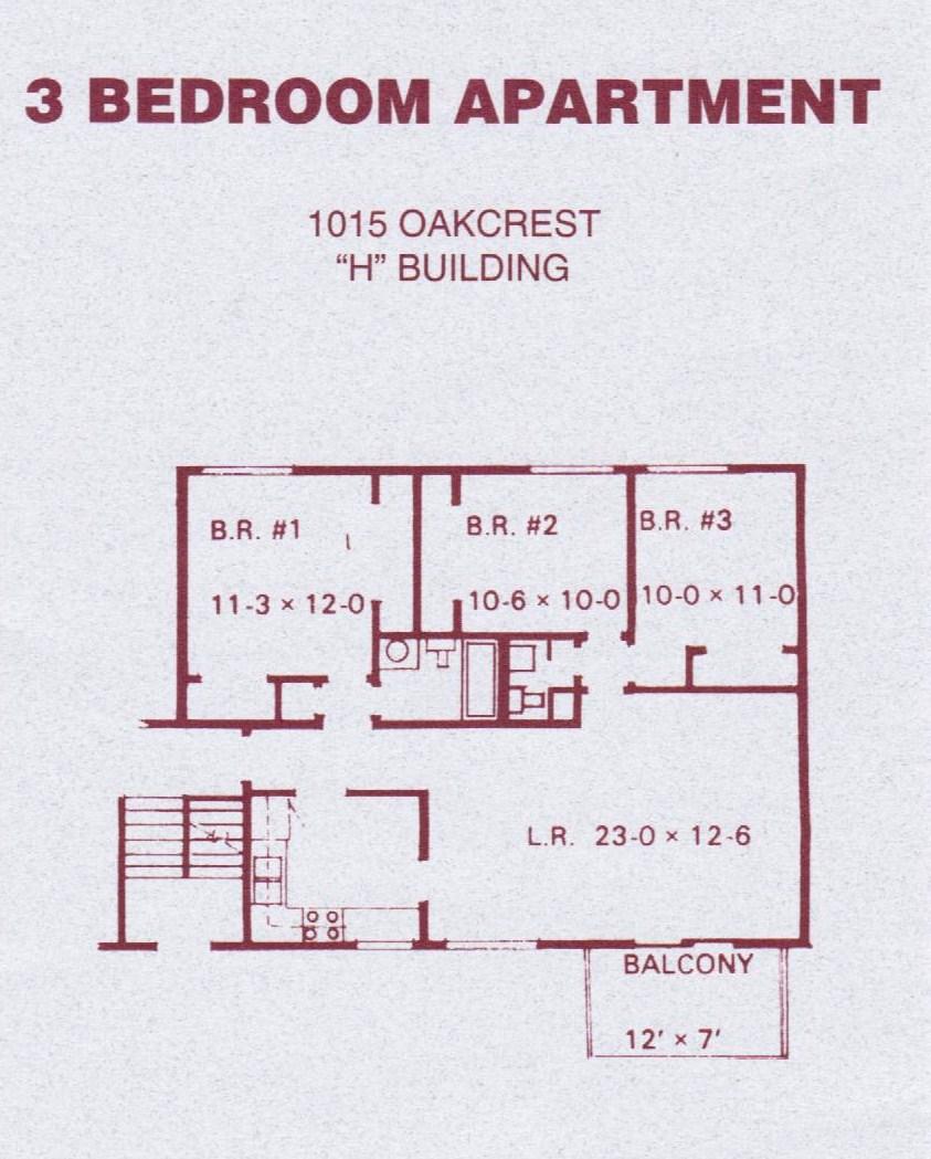 1015 Oakcrest St H1 H6 3 Bedroom J J Real Estate